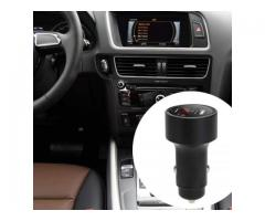 Incarcator auto Dual USB cu Localizare masina Bluetooth si aplicatie GPS, display digital voltaj si