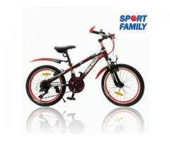 Bicicleta Meilechi cu jante duble de aluminiu rosie (6-11 ani)