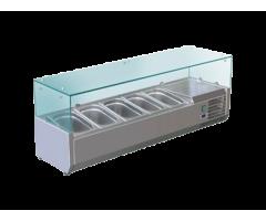 vitrina rece pe banc  productie proprie  ZINO INOXA,