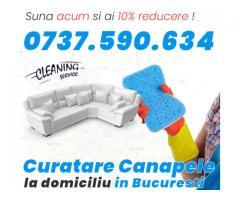 Servicii profesionale de curatare canapele la domiciliu