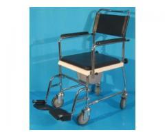Scaun handicap cu wc (toaleta) cu rotile